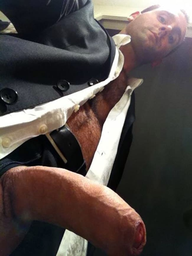 Well Dressed Fella Shows An Uncut Dick - Nude Men With Boners