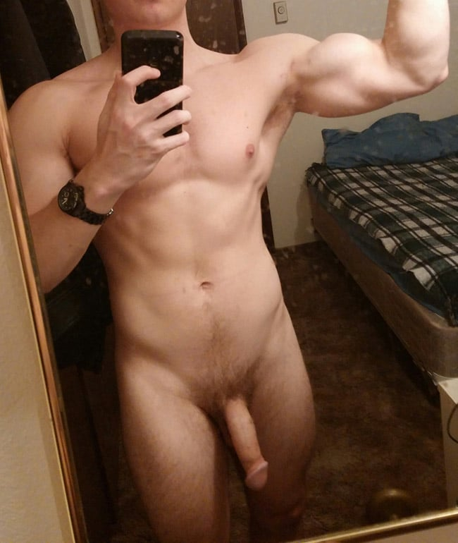 Flexing Dude's Dick