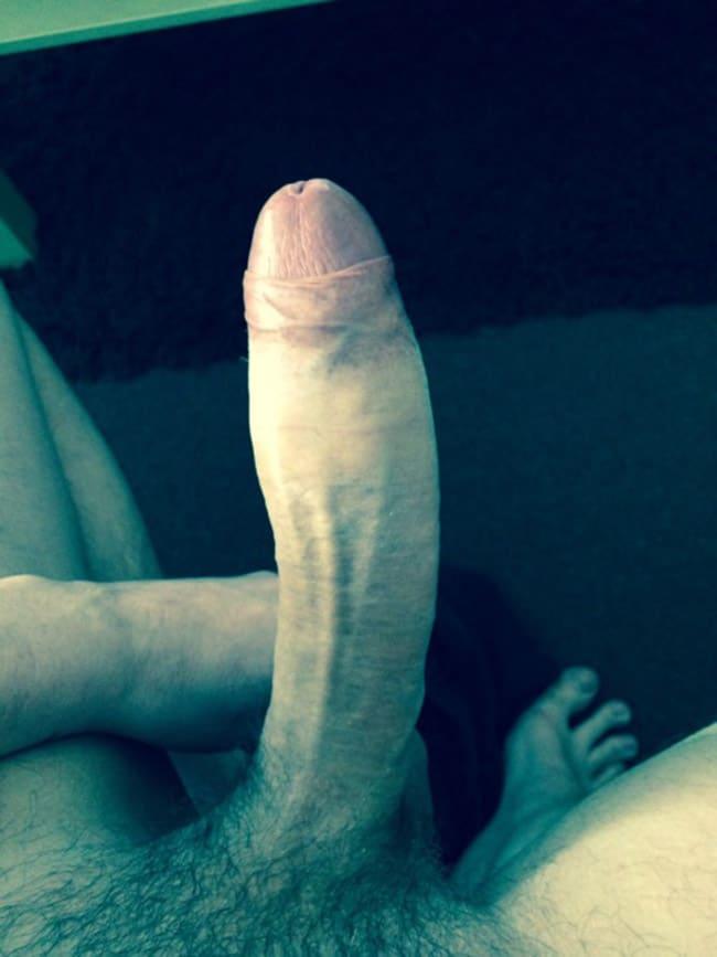 Hard Bent Penis