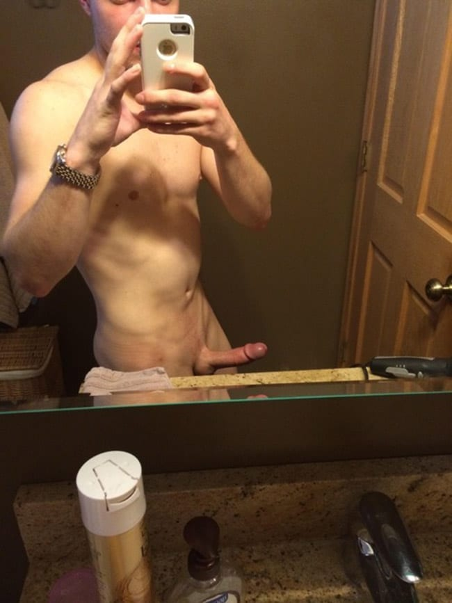 Nude Mirror Pose