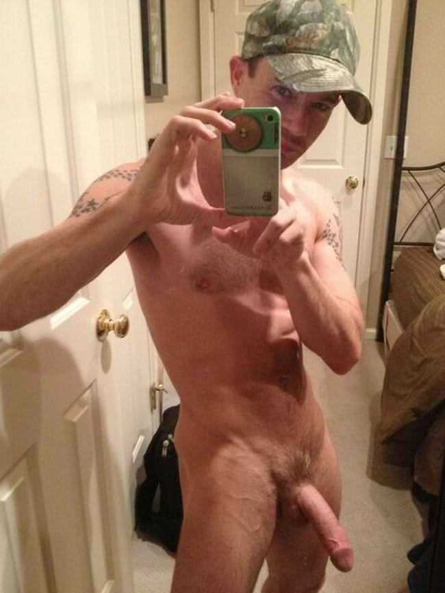 Handsome Fella Got A Nicely Sized Dick - Nude Men With Boners