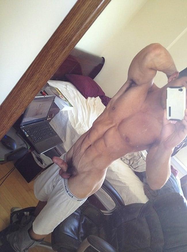 Muscular Man's Erection