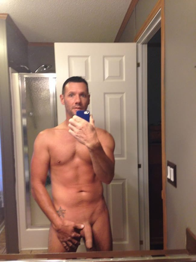 Handsome Man Showing A Smooth Dick - Nude Men With Boners